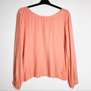 Anthropologie Cloth & Stone Button Back Blouse
